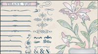 European-style lace pattern 02-- vector material