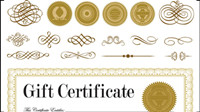 Certificate and badge jewelry box 01 - Vector
