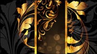 Gold pattern vector material -4