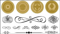 Certificate frame and badge accessories 04 - vector