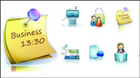Business exquisite 3D vector material -2