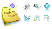 Business exquisite 3D vector material -1