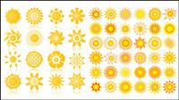 Sun graphics icon vector material