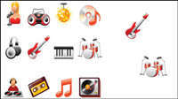 Music icon vector material
