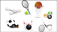 Sports-related icons 02 - vector