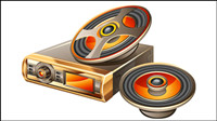 Car audio vector material -2