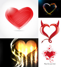 Romantic heart-shaped graphic vector material