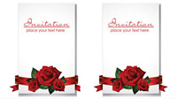 Romantic wedding invitations - vector