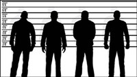 People silhouette - vector material
