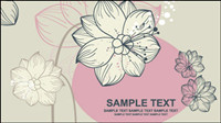 Lovely flowers vector material -1