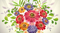 Beautiful bouquets 05 - vector