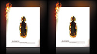 Flame burning paper effect 03 - vector material