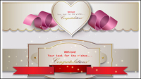 Beautifully romantic banner01-vector material
