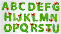 Christmas English font 03 - vector material