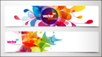 Dynamic pattern banner 01 - vector material