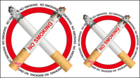 No smoking signs 01 - vector material