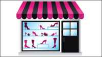 Fashion shopping 05 - vector material