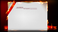 Flame burning paper effect of 01 - vector material