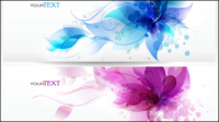 Dynamic trend banner 02 - vector material