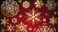 Beautiful snowflake pattern 02 - vector