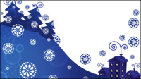 Christmas blue background Vector - 01