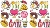 Cartoon food vector material -02