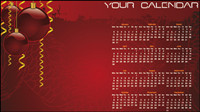 Christmas background calendar 02 - vector