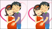 Cartoon expectant mothers 03 - Vector