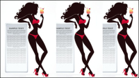 Fashion beauty silhouette 02 - Vector
