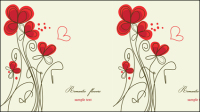 Stylish hand-painted flowers Vector -3
