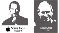 Jobs black and white vector material