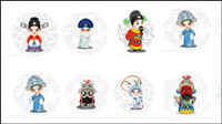 Vector cartoon Opera Figures 2