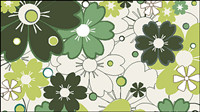 Flower patterns 01 - vector material