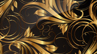 Gold pattern patterns 03 - vector material