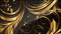 Gold pattern patterns 01 - vector material