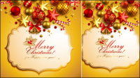 Christmas elements background 03 - vector material
