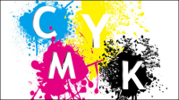CMYK color 06 - vector material