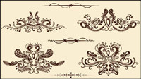 European-style lace pattern 03 - vector material