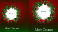 Beautiful Christmas background 02 - vector material