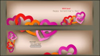Valentine label elements 03 - vector material