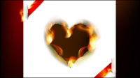 Flame of burning paper effect 05 - vector material