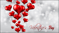 Valentine background 02 - vector material