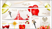 Exquisite wedding greeting card - vector material