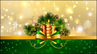Beautiful Christmas background 04 - vector material