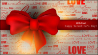 The exquisite Valentine background - vector material