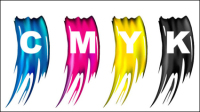 CMYK Colors 04 - vector material
