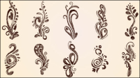 European lace pattern 02 - vector material