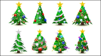 Gorgeous Christmas tree - vector material