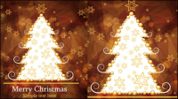 Brown gorgeous Christmas background 03 - vector material