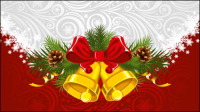 Christmas background 01 - vector material